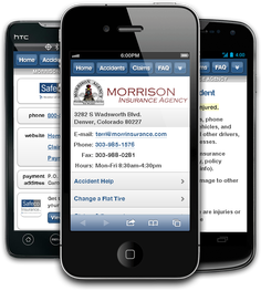 Mobile insurance website for Morrison Insurance Agency at m.morrinsurance.com